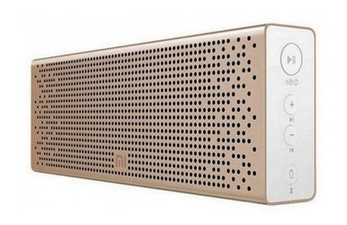 Caixa De Som Mi Bluetooth Speaker Xiaomi Dourada Sem Fio