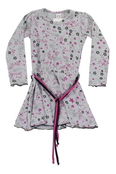 Vestido Nena Invierno Algodón Estrella Brillos Regalosdemama