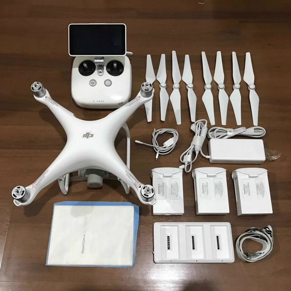 Drone Dji Phantom 4 Advanced Plus C/ 3 Baterias E Monitor
