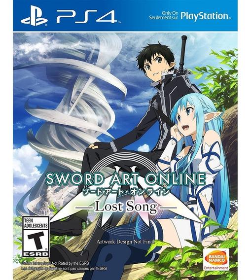 Sword Art Online Lost Song Ps4 Mídia Física Lacrado