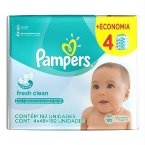 Pampers Fresh Clean Lenços Umedecidos Para Bebês 192 Un