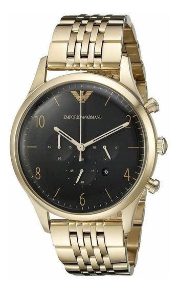 Reloj Analógico Marca Armani Modelo: Ar1893 Color Dorado Par
