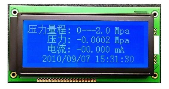 Display Tela Lcd 192x64 Ks0108 5 V Tela Azul Arduino