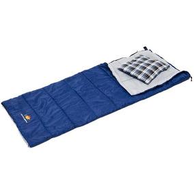 Saco De Dormi Com Travesseiro Guepardo - Azul