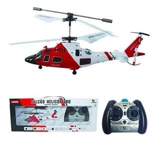 Helicóptero Controle Remoto Falcão 3 Canais Com Giroscópio