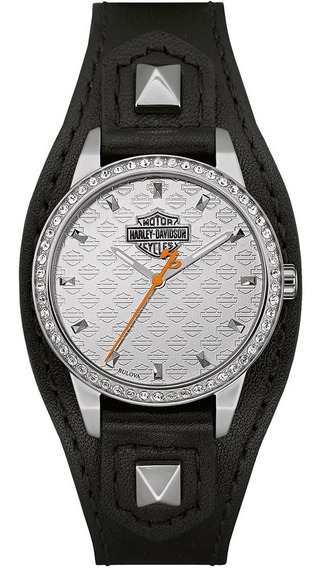 Nuevo Reloj Harley Davidson Shaped Original Para Dama 76l183