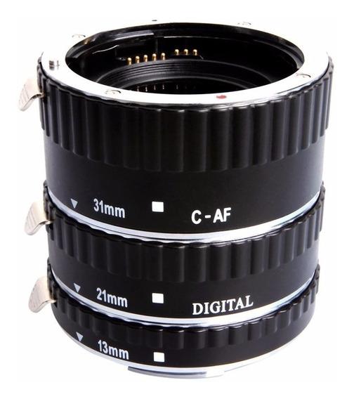 Kit Tubo De Extensão Automático Macrofotografia Para Canon
