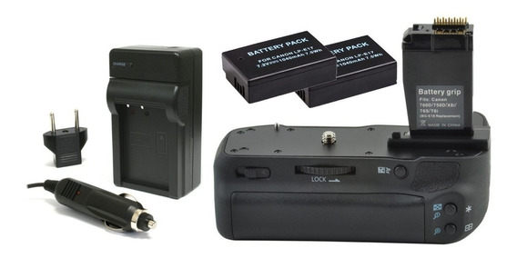 Battery Grip De Baterias Para Canon Eos T6i 750d + 2 Lp-e17