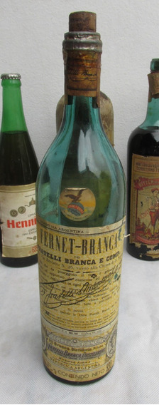 Antigua Botella Fernet Branca, Etiqueta, 930 Cm3, Vacia #l