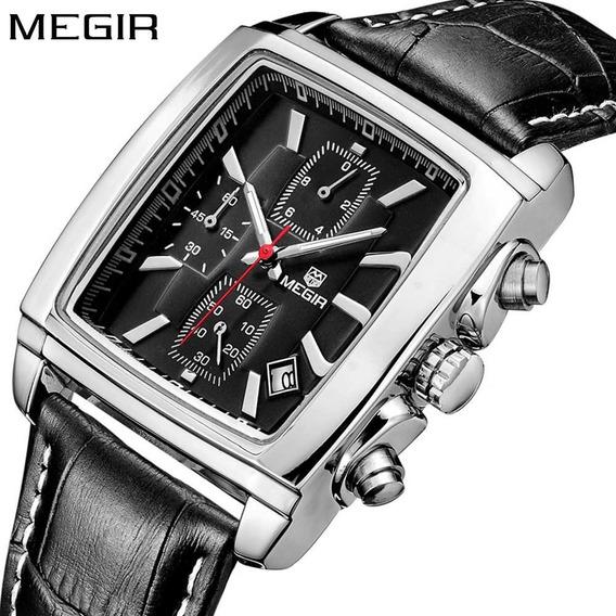 Relógio Megir 2028 Retrô Elegante Luxo Social Esporte Fino