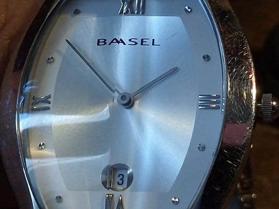Reloj Basel Japonés Precioso Acero Inoxidable