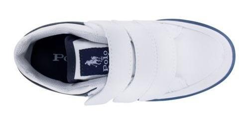 Zapato Tenis Casual Niño Escolar Hpc Polo 0207-123909 Bco O