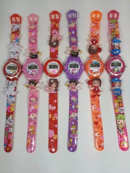 10 Relógios Para Criança Personagens Digital Atacado Revenda