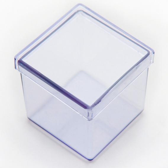 50 Caixinha De Acrilico 5x5 Transparente