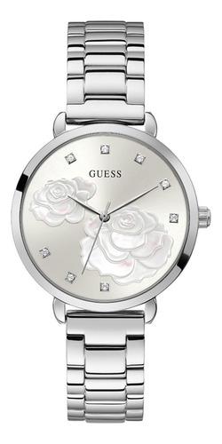 Reloj Para Mujer Guess Sparkling Rose Color Plata Gw0242l1