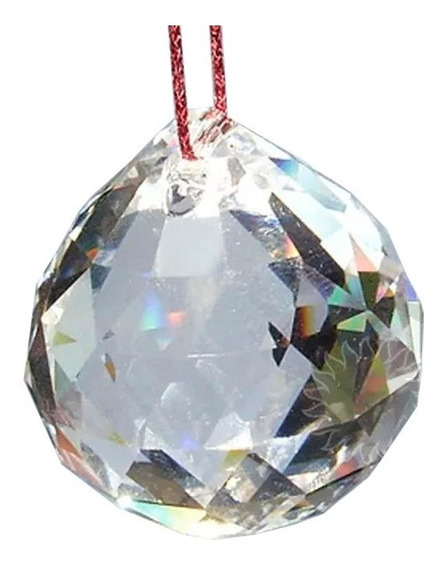 Bola Esfera De Cristal Facetada Egípcio 20mm Feng Shui