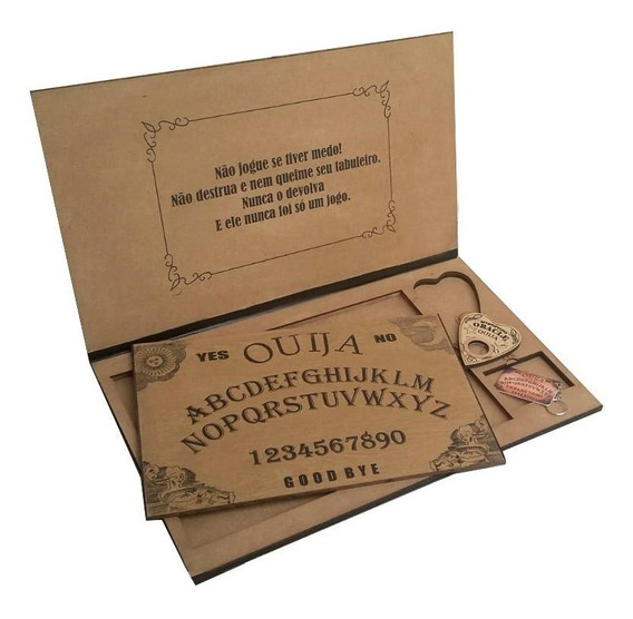 Tabuleiro Ouija - E Maleta Impresso Verniz