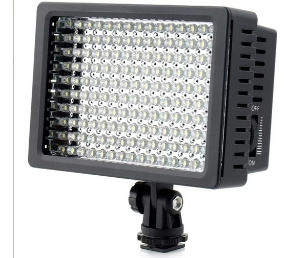 Iluminador 160 Led Para Foto E Video Dslr Aceita Nikon Canon