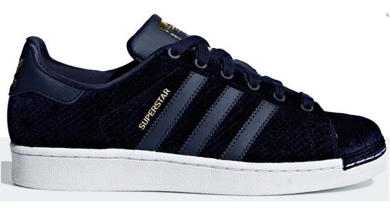 Tênis adidas Superstar Velvet Blue, Pronta Entrega