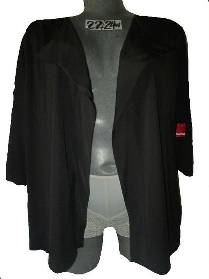 Cardigan Negro De Gala Y Vestir Talla 3x 42/44 Avenue