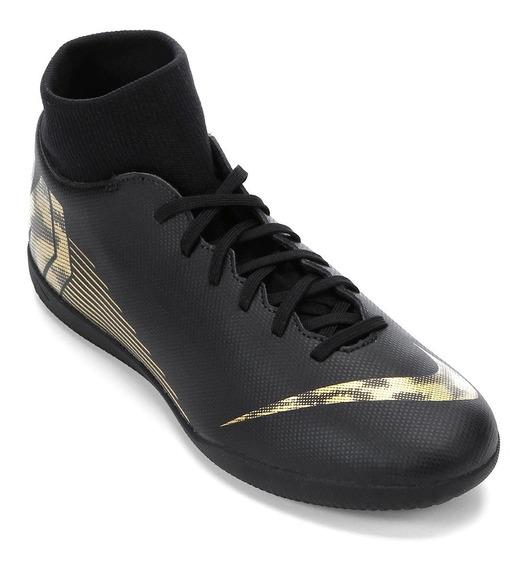 Tênis Nike Futsal Mercurial Superflyx 6 Preta Botinha Adulto