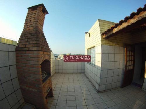 Cobertura Com 3 Dormitórios, 190 M² - Venda Por R$ 650.000,00 Ou Aluguel Por R$ 1.700,00/mês - Jardim Barbosa - Guarulhos/sp - Co0061