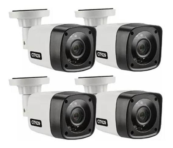 Kit 4 Câmeras Bullet Citrox 4x1 Ahd/cvi/tvi Cx-2520 720p 1mp