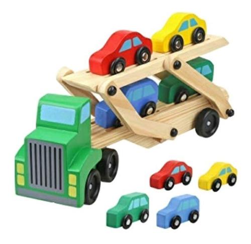 Camión De Madera Juguete  Niños Juego