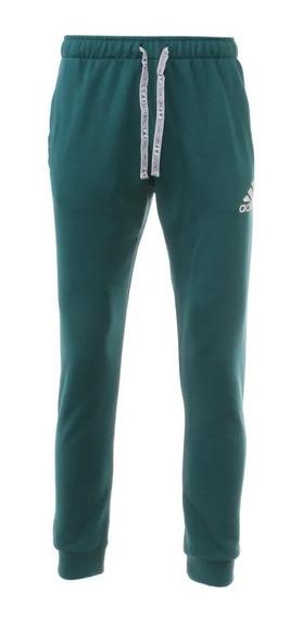 adidas Pantalon Running Hombre Essentials Logo Aop Verde