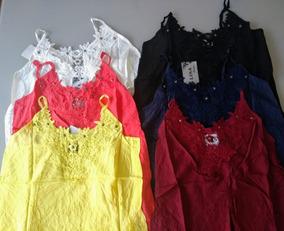 10 Blusas Blusinha Renda Alcinha Decote Verão Regata Atacado