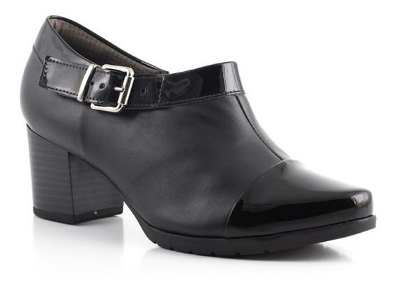 Sapato Ankle Boot Piccadilly 331031 Salto Grosso E Fivela