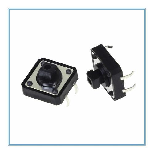 Imagen 1 de 2 de Lote De 3 Pulsador Switch Táctil Nabierto 12x12x7.3mm -pdiy-