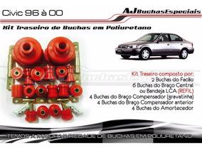 Civic 99 - Kit De Buchas Traseiro Em Poliuretano 20pç