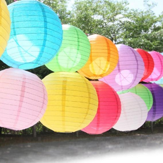 10 Lanterna Japonesa Chinesa Balão Para Decoração 25cm