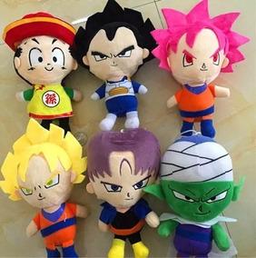 Dragon Ball Z Bonecos De Pelúcia 6 Peças Brinquedos Musicais