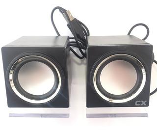 Rosario Parlantes Cx Black Usb 2.0 Audio Digital