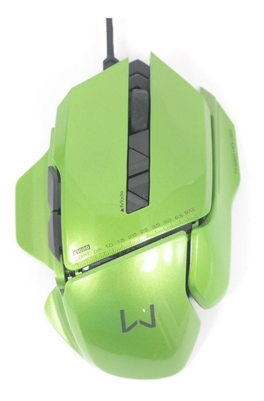 Mouse Gamer Multilaser Warrior 8200dpi 8 Botões Mo247 Led