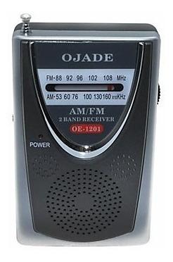 Rádio De Bolso Ojade Oe-1201 Am/fm Alto Falante Embutido