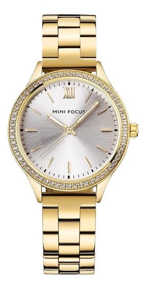 Relógios De Pulso De Quartzo Mulheres Elegante Correia De Aç