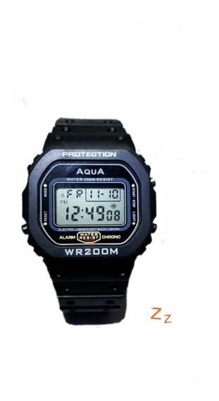 Relógio Masculino Digital Barato Aqua Wr 200m Prova D