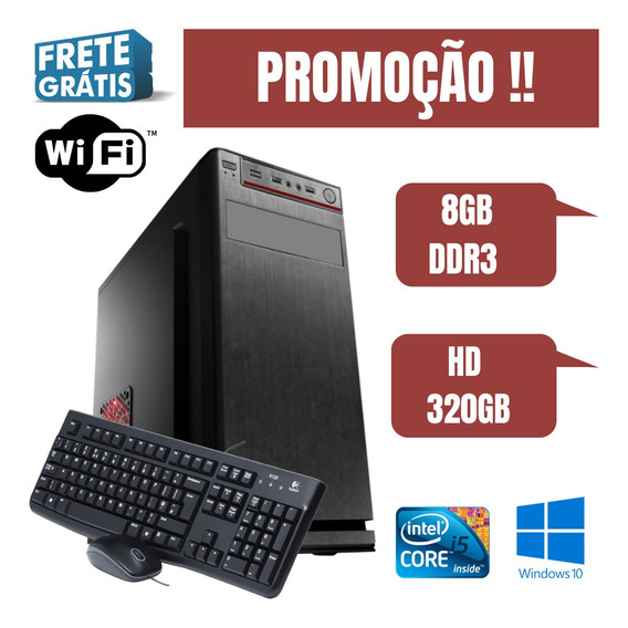 Cpu Intel Core I5 8gb Ram 320gb Windows 10. Usb, Wifi Frete!