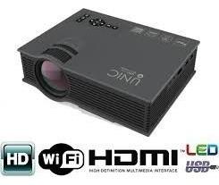 Mini Projetor Led Unic Uc46 + Wifi 1200 Lumen Hdmi 1080p