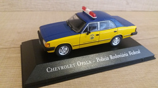 Miniatura Opala 1:43 Carros Serviço Pol. Rodoviária Federal