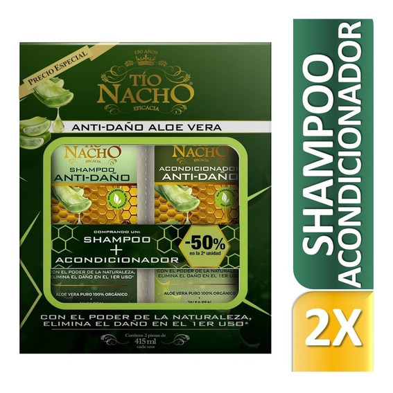 Tio Nacho Monoestuche Shampoo + Acondic X400ml Farmaservis