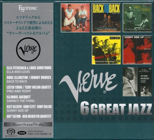 Imagen 1 de 6 de Disco Sacd Cd Box Verve 6 Great Jazz  Esoteric Series