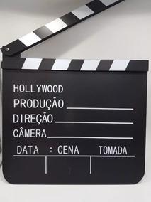 Trio Claquete Luz Camera Ação Gravando Cinema Tv Teatro Fox