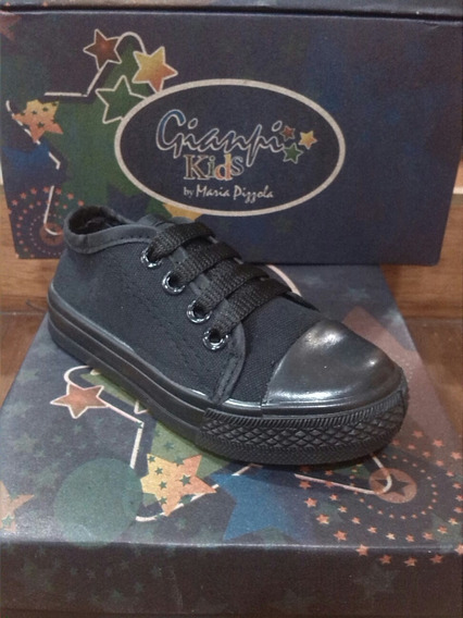 Zapatos Tipo Converse Marca Gianfi Kids Colegial 24-35