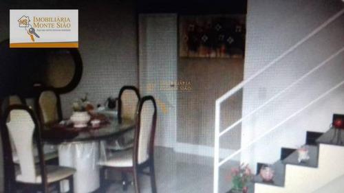 Sobrado Com 3 Dormitórios À Venda, 80 M² Por R$ 430.000,00 - Centro - Guarulhos/sp - So0485