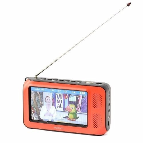 Mini Tv Digital Portátil 4.3 Portátil Full Hd Exbom Mtv-45h