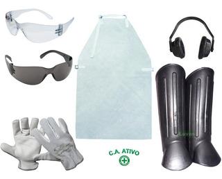 Kit Operador De Roçadeira + 1 Protetor Facial De Catraca